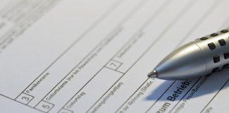 Formular mit Stift