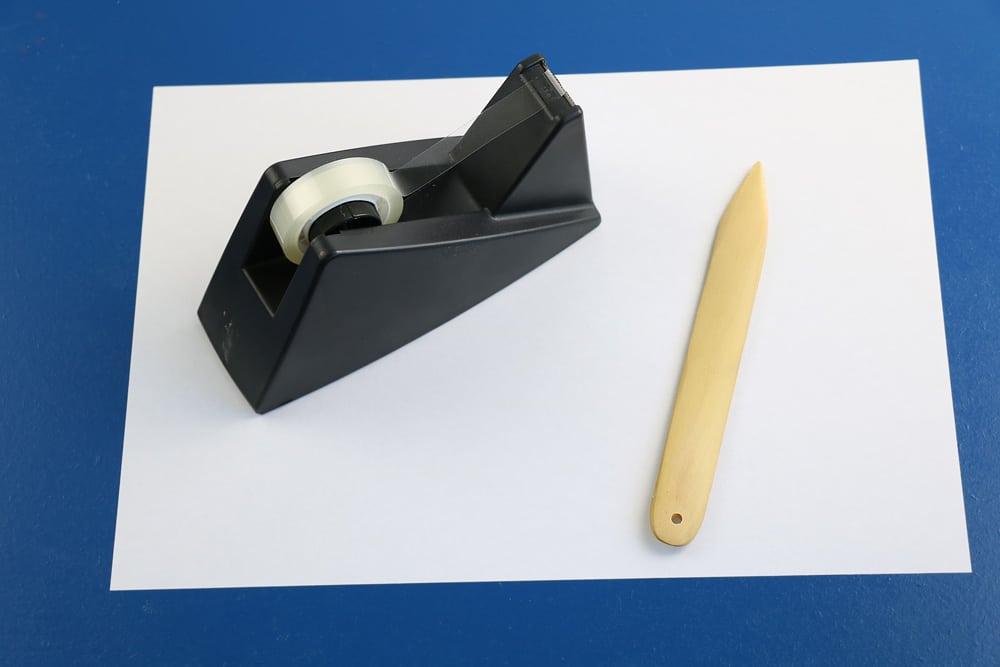 Briefumschlag falten Material