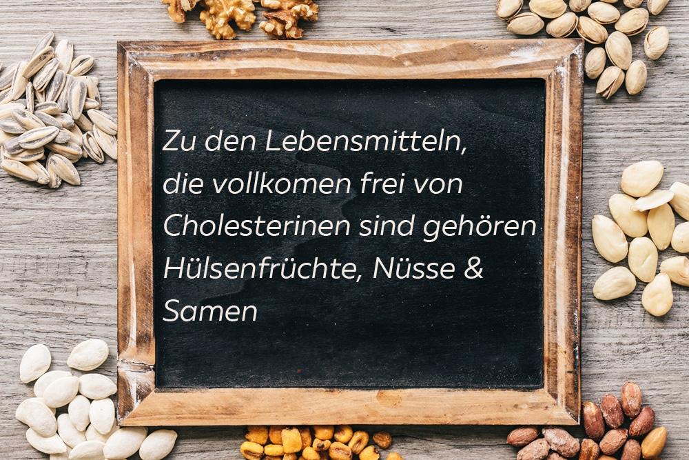 Tafel zu cholesterinfreien Lebensmitteln