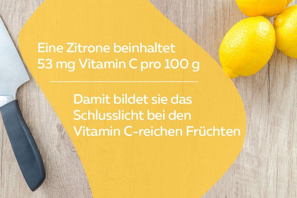 Nährwert einer Zitrone