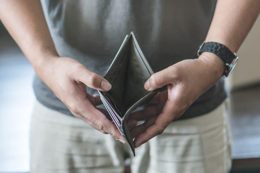 Geldbörse leer