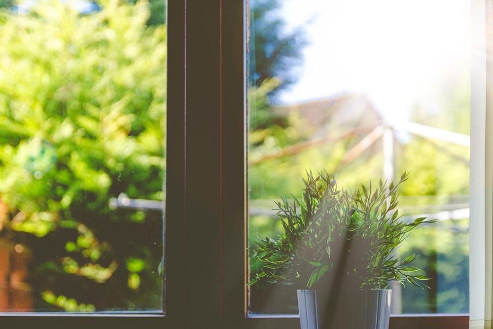 sauberes Fenster