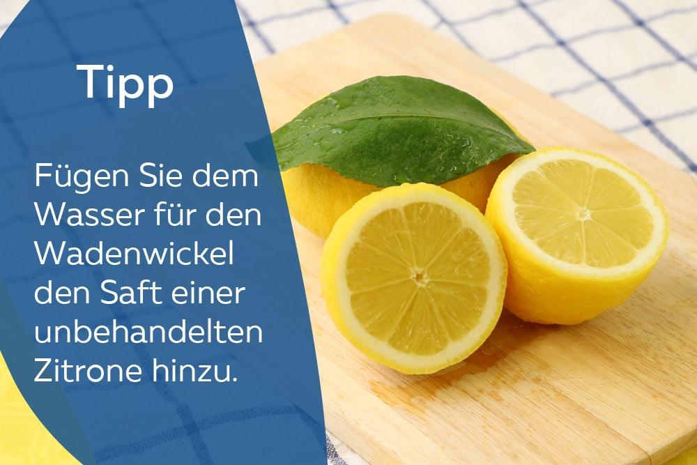Zitrone für Wadenwickel
