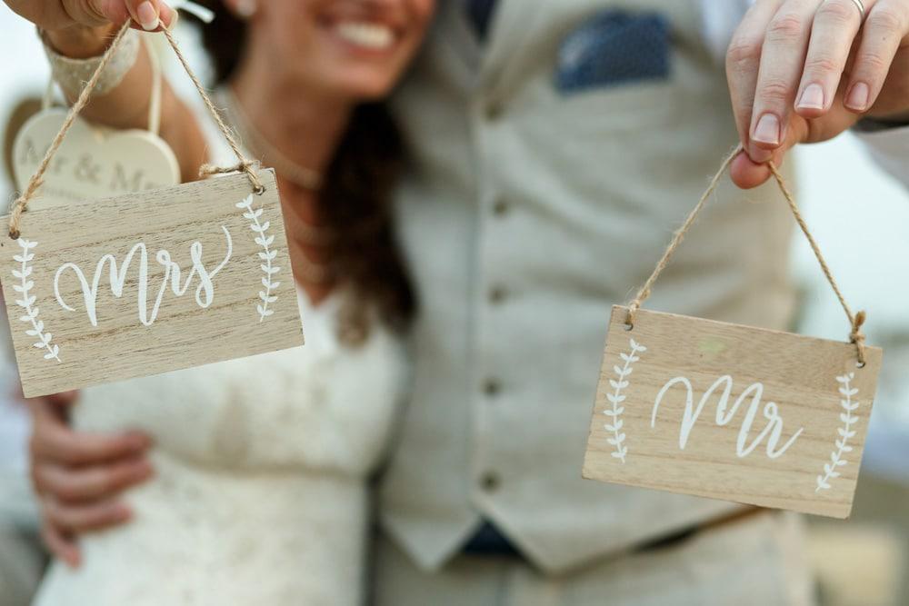 Namensänderung nach der Hochzeit
