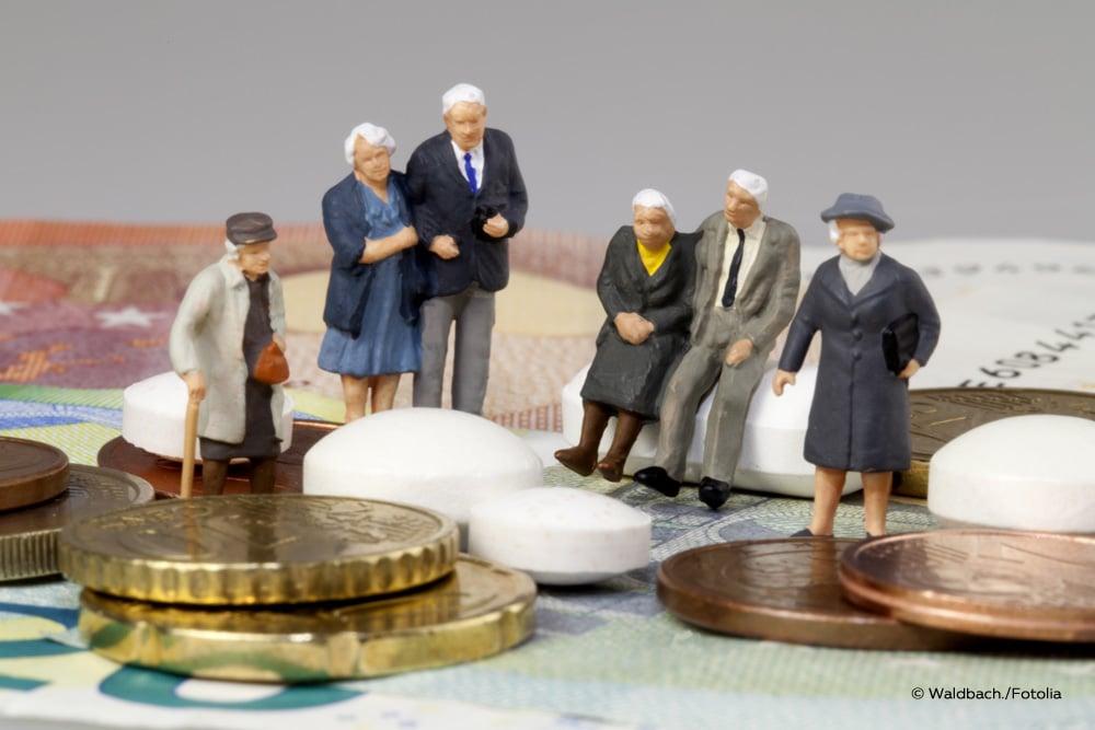 KVdR Ältere Menschen Geld Tabletten