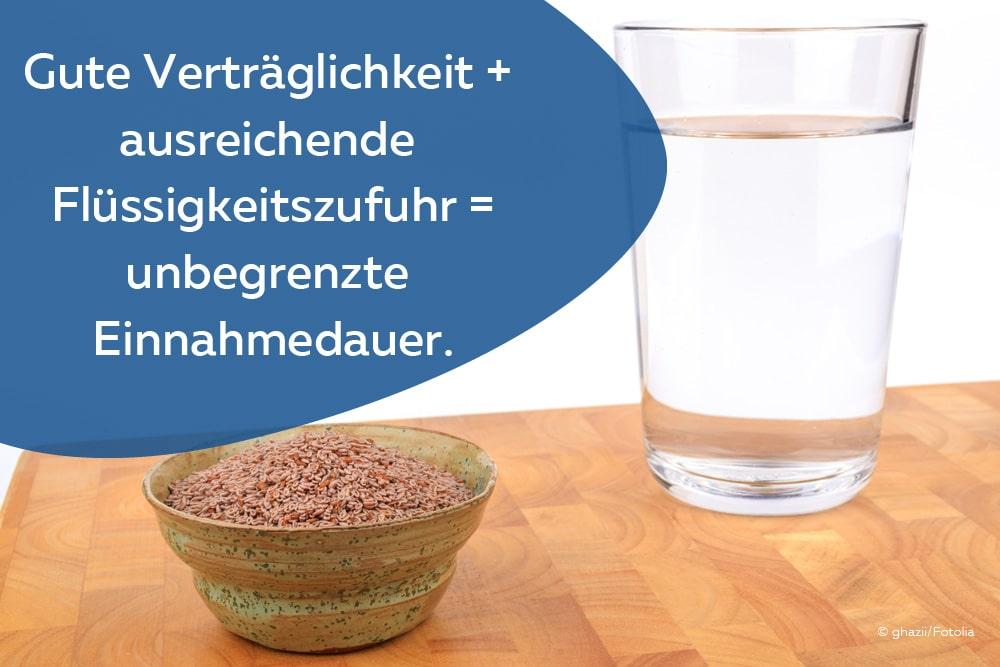 Flohsamen Wasserglas
