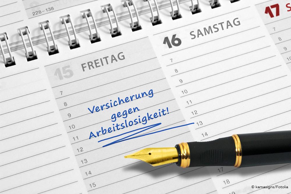 Freiwillige Arbeitslosenversicherung Eintrag Kalender