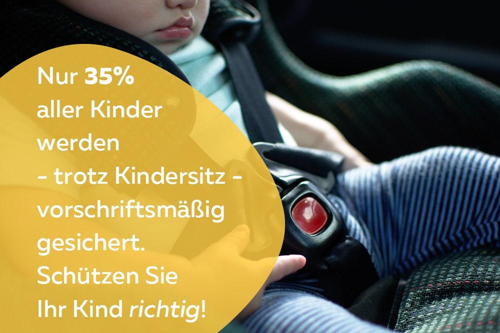 Kindersitzpflicht Statistik Appell
