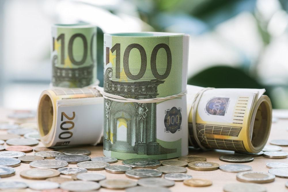 Geldbündel Reichtum