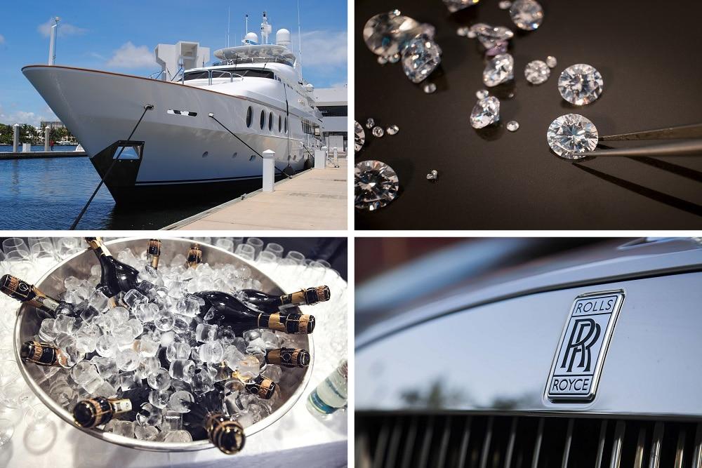 Reichtum Deutschland Collage Luxus Klischees