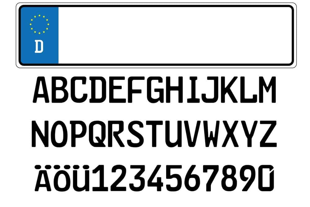 Kfz-Kennzeichen Diebstahl Buchstaben Ziffern Kombination