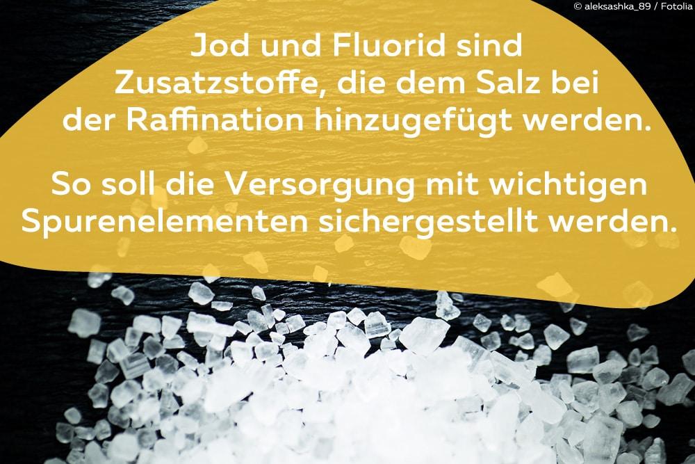 Speisesalze ohne Jod und Fluorid
