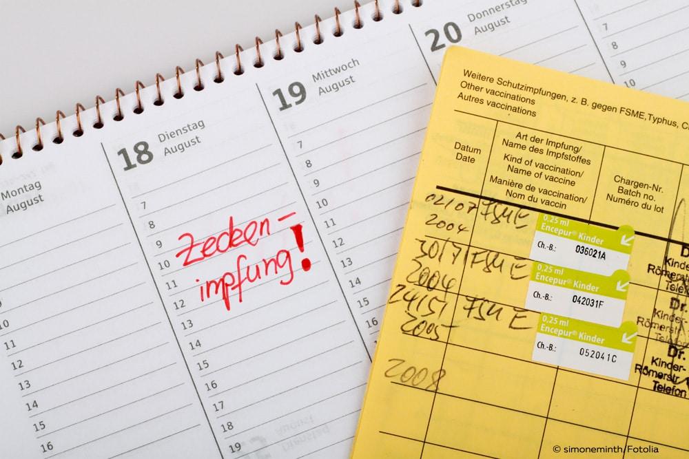 Zeckenimpfung Kalender Impfpass