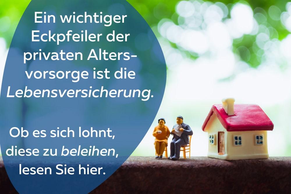 Lebensversicherung beleihen Beitragsbild Miniaturfiguren