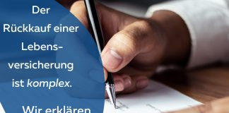 Rückkaufswert Lebensversicherung Unterschrift Vertrag