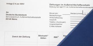 AWV Meldepflicht Formular Z4