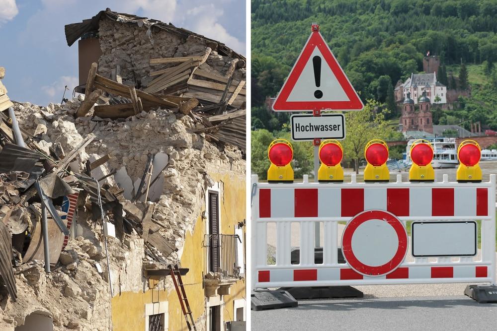 Elementarschäden Erdbeben Hochwasser
