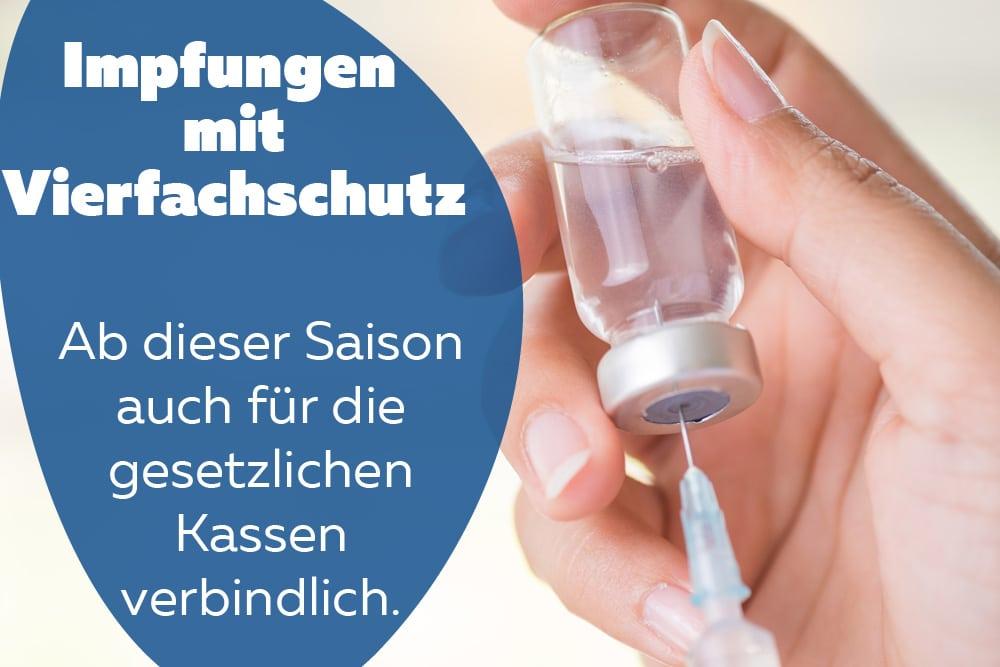 Grippeschutzimpfung Serum Vierfachschutz