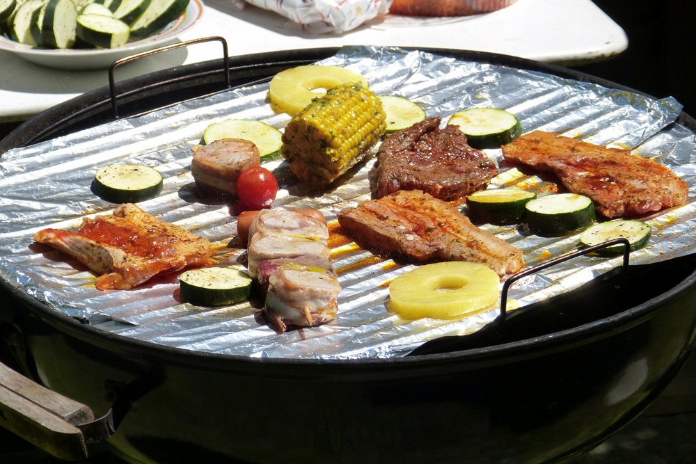 Lebensmittel Alufolie Grillschale