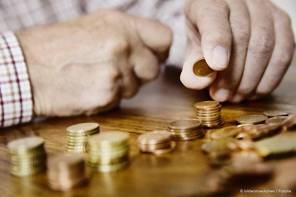 Rentenpunkte kaufen Praxis Mann Münzgeld