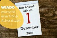 Kalenderblatt Änderungen ab Dezember 2018