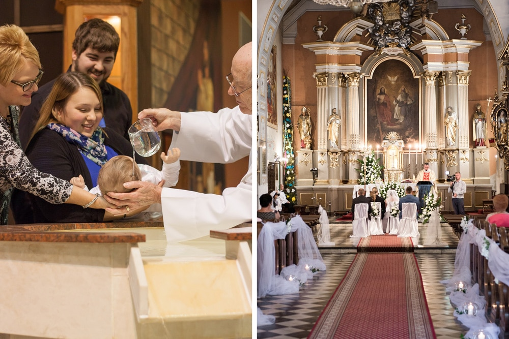 Kirchenaustritt Collage Nachteile Wegall Taufe kirchliche Trauung