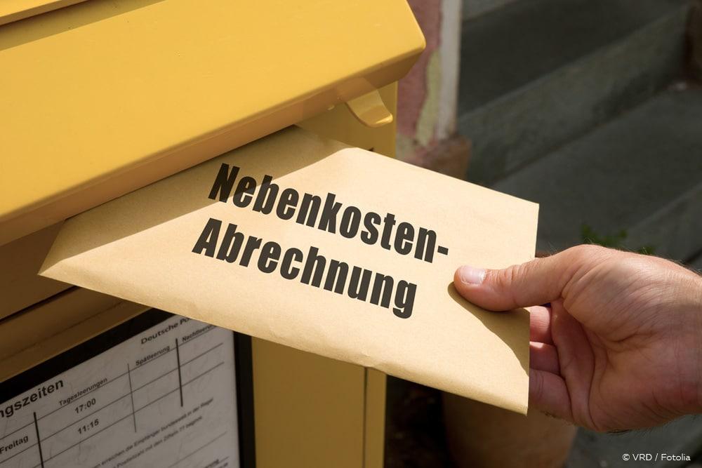 Nnicht umlagefähige Nebenkosten Nebenkostenabrechnung Brief Briefkasten