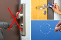 Tür öffnen ohne Schlüssel Collage