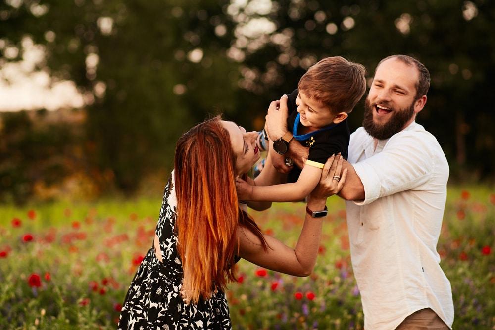 Verbeamtung glückliche Familie