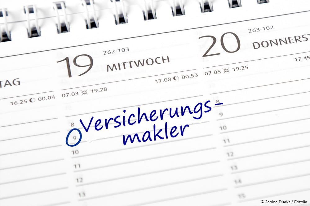 Versicherungsmaklervertrag Termin Kalender