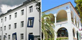 Zweitwohnsitz Collage aus Studentenwohnheim & Villa