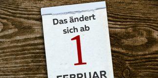 kalenderblatt änderungen ab februar