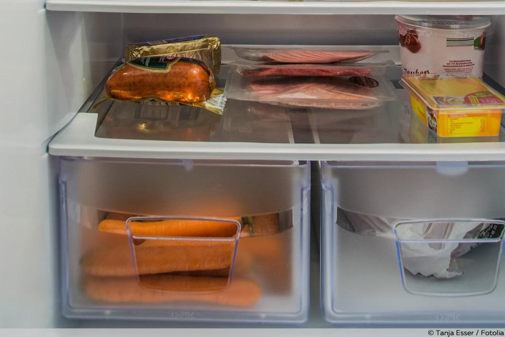 Möhren im Kühlschrank richtig lagern