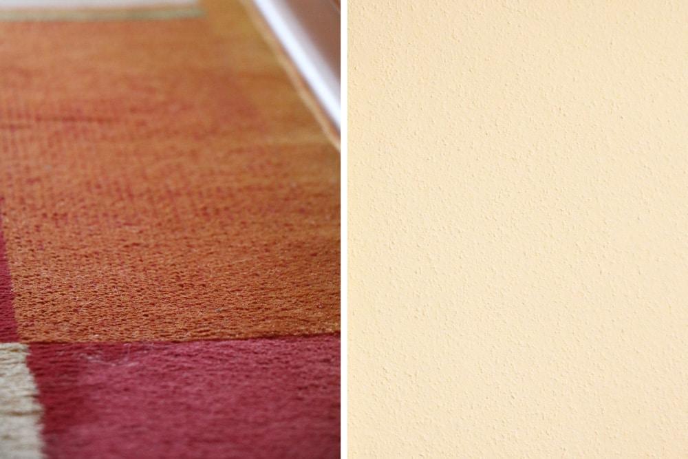 Raumakustik verbessern - Teppich und Raufasertapete