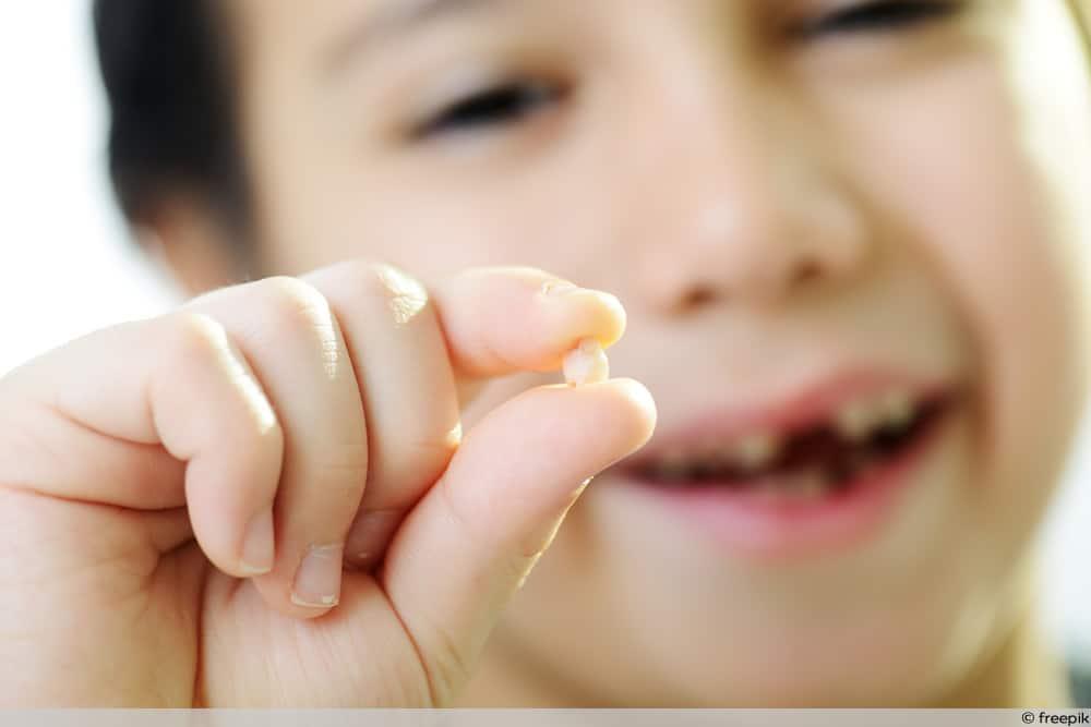 Zahn verschluckt - Junge Zeit Milchzahn