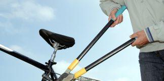 Knacken des Fahrradschlosses
