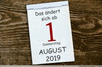 Kalenderblatt Änderungen ab August