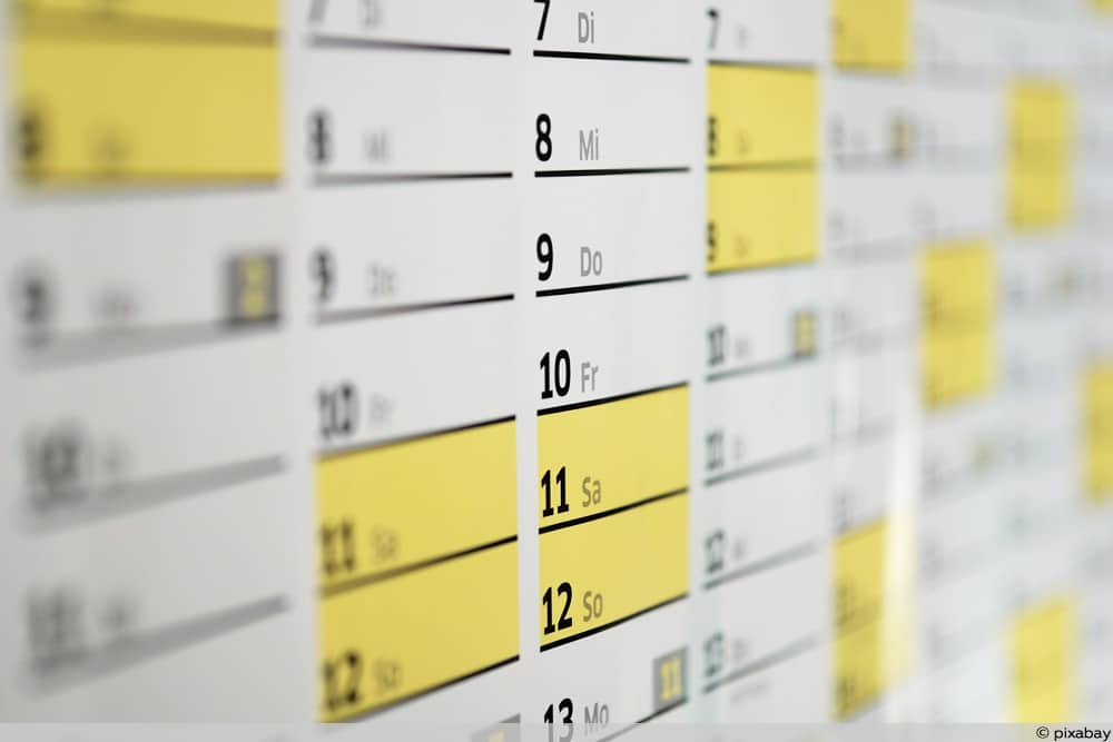 Kalender - Kindergeld 2020