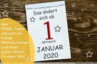 Kalenderblatt - Das ändert sich ab Januar 2020