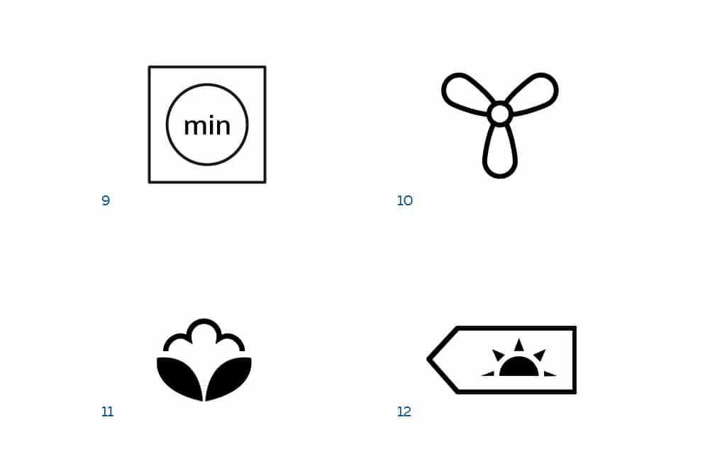 Zeitl. trocknen, Lüften, Baumwolle und Standard Baumwolle