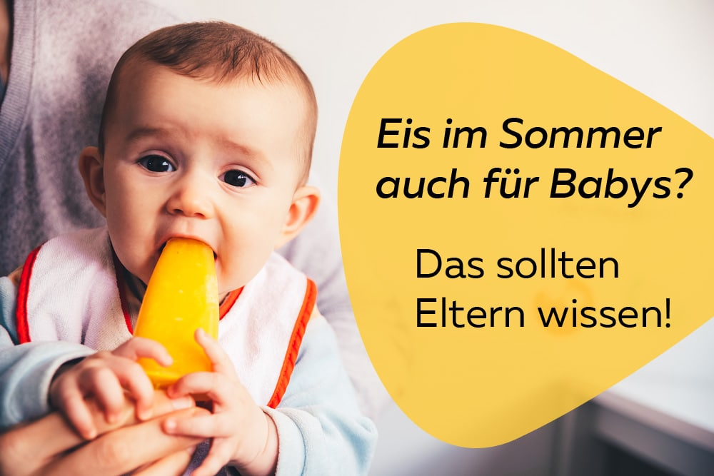 Babys Eis essen